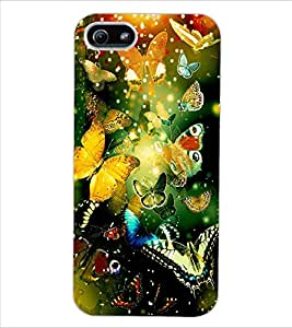 ColourCraft Beautiful Butterflies Design Back Case Cover for APPLE IPHONE 5S