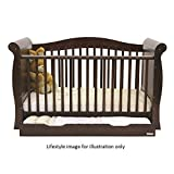 BabyStyle Hollie 2 Cot Bed with Curved Back (Walnut)