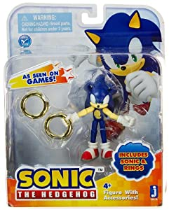 Sonic 3 quot mini figure rings sonic the hedgehog figure with