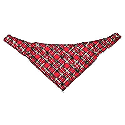 45cm Tartan Dog Bandana Collar - Red