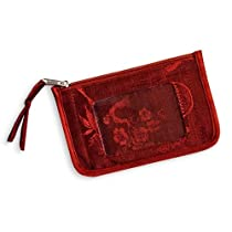 ID Pouch - Silk Jacquard (Chili Red)