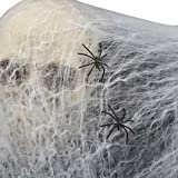 【ligangam】フェイク 蜘蛛の巣 巨大クモ 付き オリジナル ハロウィン 装飾 飾り デコレーション 衣装 仮装 スパイダーウェブ ハロウィーン 小道具 恐ろしい パーティー 装飾 不気味 蜘蛛の巣 お化け屋敷