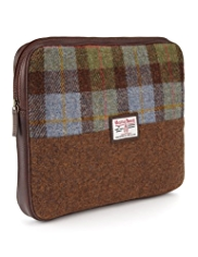 Pure Wool Harris Tweed Checked Laptop Case