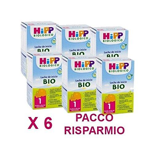 HiPP - latte Hipp 1 da 600 grammi X 6 Confezioni - Pacco Convenienza