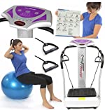 Upgraded 3900W Peak Power Silent Drive Motor 2015 Edition Now With Full 2 Year UK Warranty - The Most Powerful Gym Master Crazy Fit Vibration Plate New Model Massive 160 Speed - Semi Commercial Use 150kg User Weight