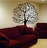 Large 6ft Tree Wall Decal Deco Art Sticker Mural - BLACK