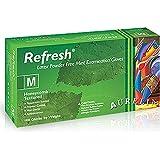 Aurelia Refresh Green Honeycomb Textured Latex, Powder-free, Disposable Glove pack of 100; S