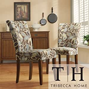 Home Leaf Print Accent Parson Side Chairs Set Of 2 These Acce