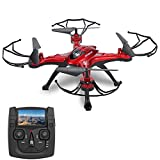 GOOLRC T5G Drohne FPV Live Übertragung 2.0MP HD Kamera RC Quadrocopter mit Home Return Headleass-Modus 360° Flips Funktion