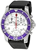Swiss Watches:Victorinox Swiss Army Men's 241087 Maverick II Chronograph White Dial Watch