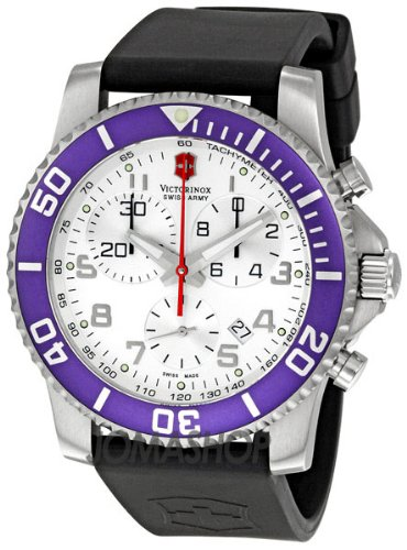 Swiss Watches:Victorinox Swiss Army Men's 241087 Maverick II Chronograph White Dial Watch Images