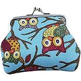 Zjskin Women Lovely Style Lady Small Wallet Hasp Owl Purse Clutch Bag