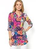 Floral print tunic-style blouse print 24