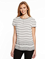 M&S Collection Contrast Print T-Shirt
