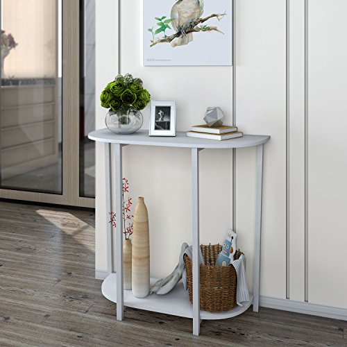 Lifewit Modern 2 Tier Console Table Entryway Table, White