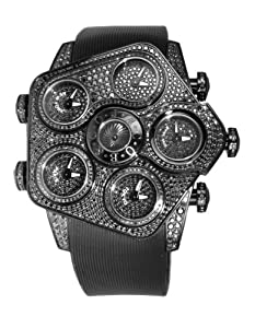Jacob & Co. Grand GR5-1 Black PVD Metallic Dials 7.1Ct Black Diamonds 47mm Watch