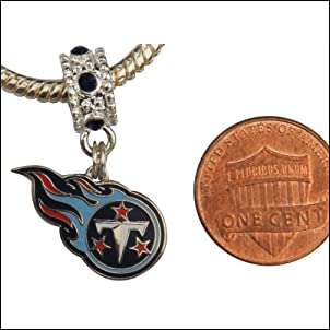 Tennessee Titians Charm with Connector Will Fit Pandora Troll Biagi and More. Can Also Be Worn As a Pendant