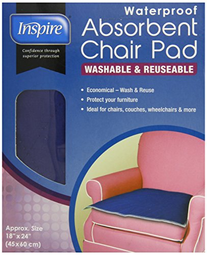 Inspire Waterproof Absorbent Chair Pad, 18 Inches X 24 Inches (Quilted Waterproof Seat Protector compare prices)