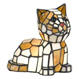 Quoizel Kitty Cat Tiffany Accent Lamp