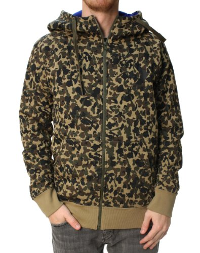 Converse Men's Camo Full Zip Long Sleeve Hoodie-Small