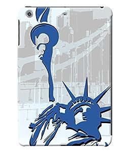 Fuson Statue of Liberty Pattern Back Case Cover for APPLE IPAD MINI 2 - D4102