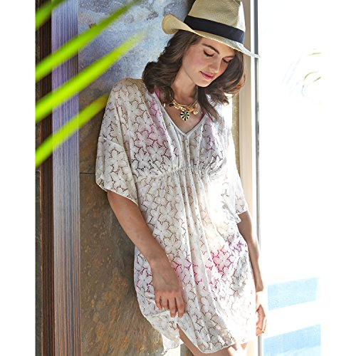 3f92ab2b5a MG Collection® Plus Size White Floral Lace Beach Dress   Swimsuit Cover Up