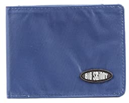 Big Skinny Men\'s Slimline Bi-Fold Slim Wallet, Holds Up to 25 Cards, Navy
