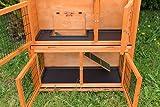 Bunny Business Zweistöckiger Kaninchen- / Meerschweinchenstall, mit Ausziehfächern und Abdeckung, ca. 104cm -