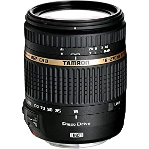 """Tamron AF 18-270mm f/3.5-6.3 Di II VC PZD LD Aspherical IF Macro Zoom Lens for Canon DSLR Cameras + SSE """"Lens Care"""" Kit: Includes - 0.45x Wide Angle Macro Lens, 2x Telephoto Lens, 3 Piece Professional Filter Kit (UV,CPL,FLD) Lens Pen, Tulip Lens Hood, Lens Cap Keeper & SSE Microfiber Cleaning Cloth"""
