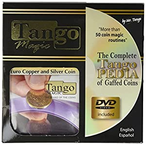 MMS Euro Copper and Silver Coin (2e and 50c with DVD)(E0054)Tango-Trick