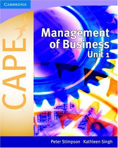 Management of Business for CAPE® Unit 1