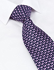Sartorial Made in Italy Pure Silk Whale Print Tie