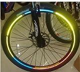 48 Stück Reflektorsticker Reflektor Aufkleber fürs Fahrrad Schultasche Kinderwagen Fahrradreifen