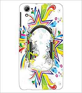 PrintDhaba Abstract Design D-2991 Back Case Cover for HTC DESIRE 826 (Multi-Coloured)