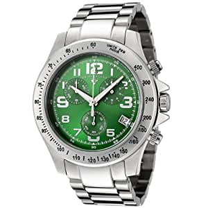 Swiss Legend Men's 50041-88 Eograph Collection Chronograph Green Dial Stainless Steel Watch