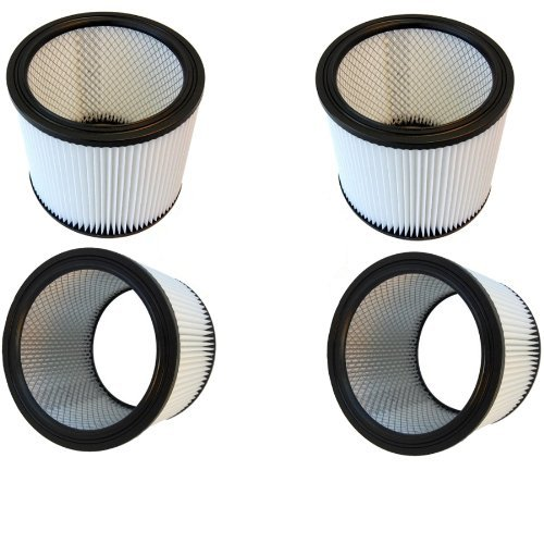 Hqrp Washable Cartridge Filter 4-Pack For Shop-Vac Qpl625 Qpl650 Qxl30Ats Vn92650C Vacuum Cleaner + Hqrp Coaster