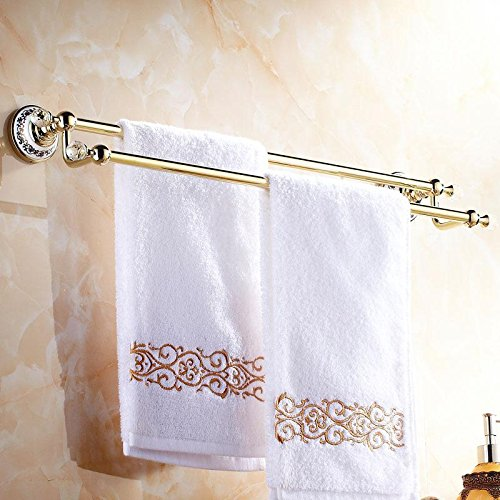 CU Classical elegance and a blue-and-white porcelain pedestal towel racks copper plated double Towel rack (Revolving Pedestal compare prices)