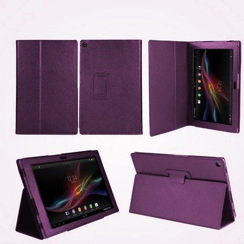 Navitech 紫 合皮 カバー Sony Xperia Tablet Z SGP312JP  10.1インチサイズ 専用