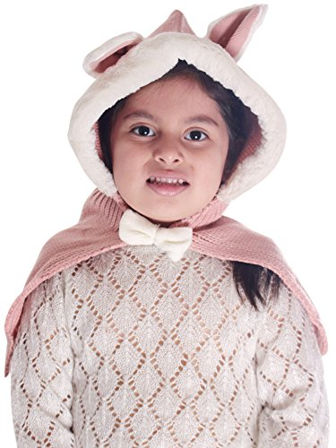 Simplicity Lovely Kids Hat with Rabbit Ear Warm Knit Cape Coat Hat Cap Shawls