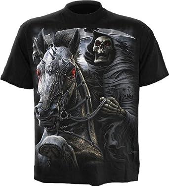 Spiral T-shirt pour homme Motif Death Rider Noir - x-large