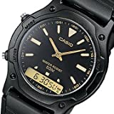 【P】CASIO(カシオ) AW-49HE-1A/AW49HE-1A ベーシック アナデジ ラウンド ブラック ユニセックスウォッチ 腕時計 [並行輸入品]