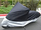 Light Weight Motorcycle cover (XL). Fits up to 94″ length Medium cruiser, Large sport bike.