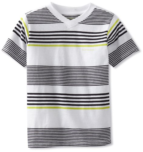 Hurley Boys 2-7 Short Sleeve V-Neck Striped Tee