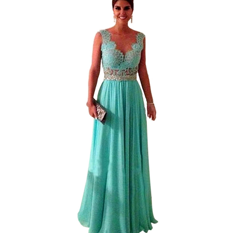PanDaDa Womens Chiffon Lace Long Bridesmaid Formal Evening Party Gown Dress вакуумный контейнер для еды friday с двойными стенками 15 2х15 2х20 2см 1 2л цвет красный материал внутренний s s304 s s201 бакелит 1249708