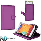 Tyrian Purple Protective Case fits Blu Studio 6.0 HD D650a D650i |Universal fit with Stand Function + ND Cable Wrap