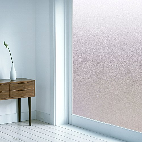 non adhesive Frosted Privacy Static Cling Window Film for Office Bathroom Kitchen Glass Door wall 35.5-by-78.8-inch white (Glass Door Privacy Film compare prices)
