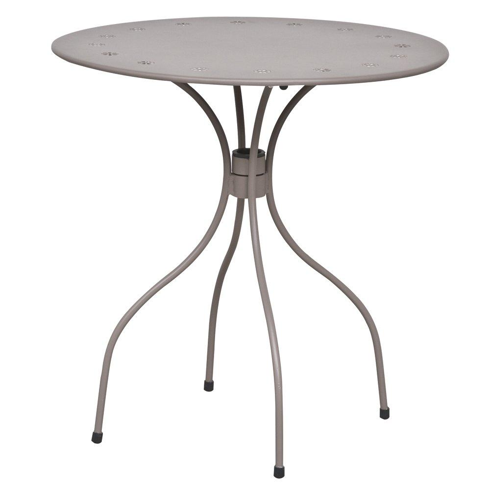 Siena Garden 875424 Tisch Fleur, Stahlgestell matt taupe, ø 70 x 71 cm online bestellen