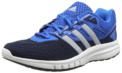 adidas Galaxy 2 M Zapatillas de running, Hombre, Negro / Blanco / Azul, 42 2/3