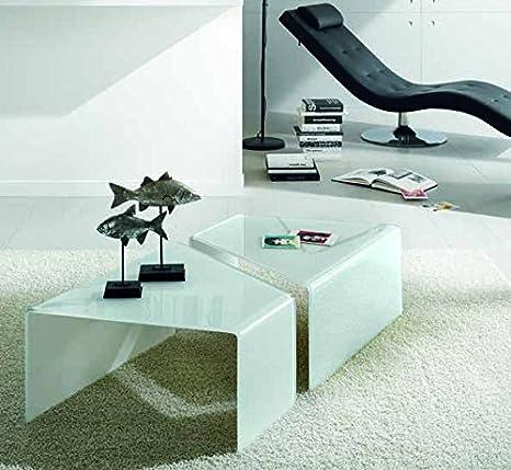 zamagna–Par de mesas de centro Dandy C1041–Acabado Color Gris Pardo RAL 7044