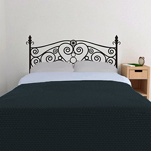 Headboard Wall Decal Vinyl Art Sticker Shabby Chic Bed Wall D¨¦cor (Black, King) Coupon 2016